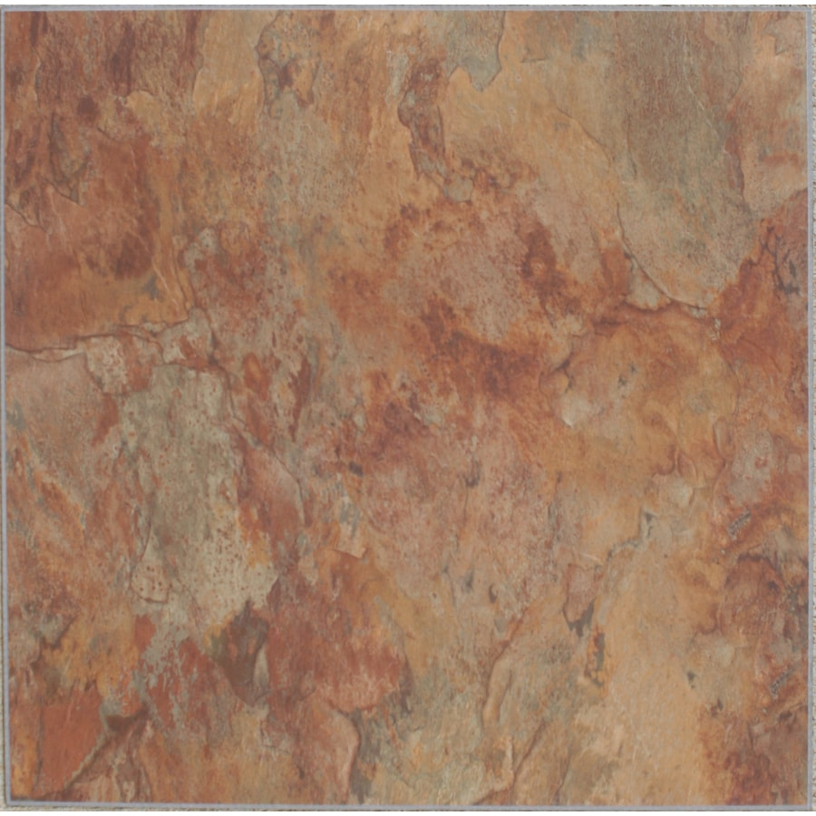 Shop Novalis Home Fashion Piece Copper Slate Peel And Stick Vinyl Tile Lowes