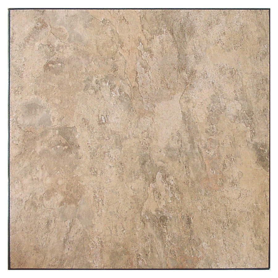 Novalis Home Fashion 10-Piece Almond Slate Peel-And-Stick Vinyl Tile