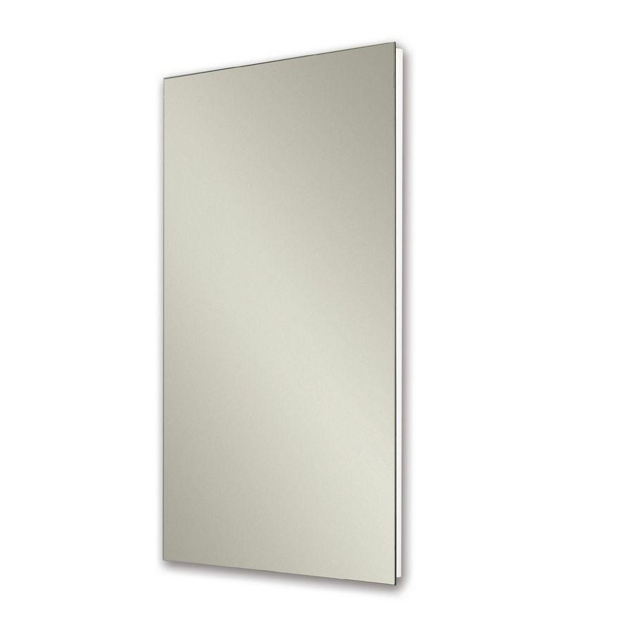 Jensen Cove 16-in x 26-in Rectangle Recessed Mirrored Steel Medicine Cabinet