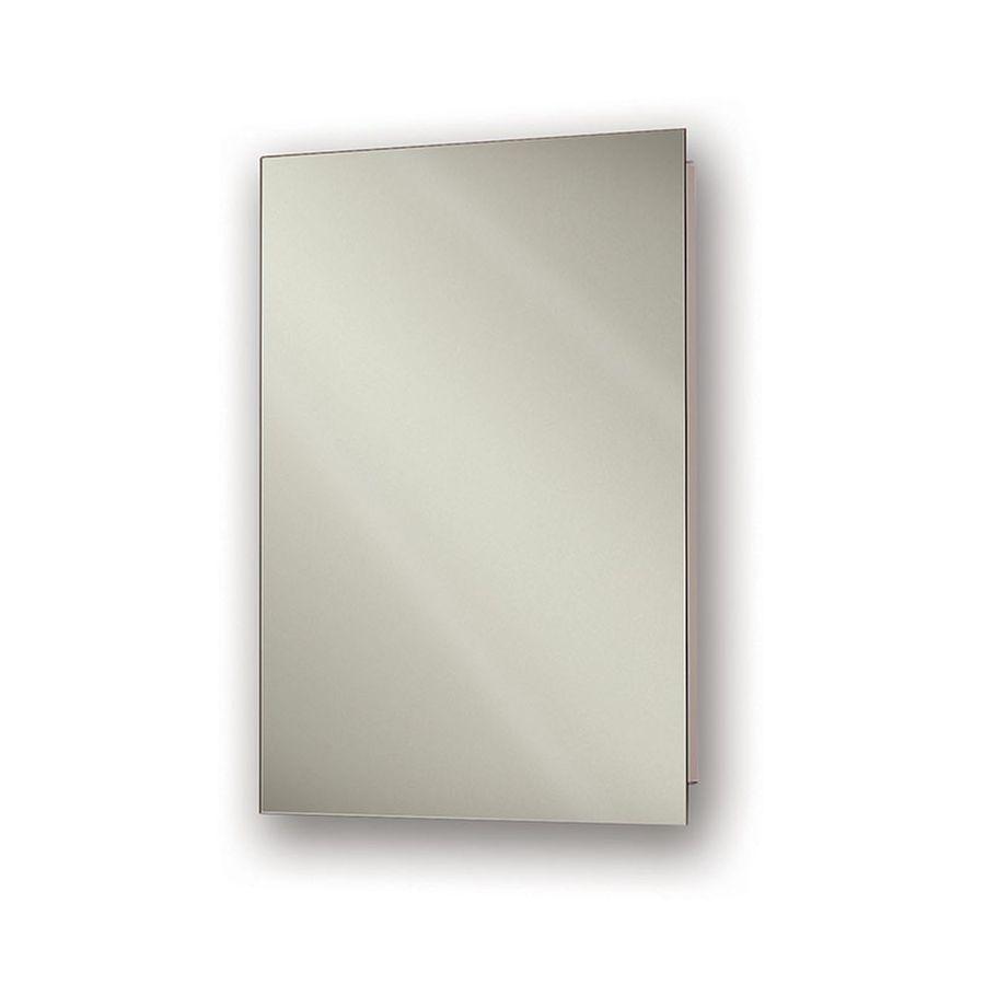 Jensen Focus 16-in x 22-in Rectangle Recessed Mirrored Steel Medicine Cabinet