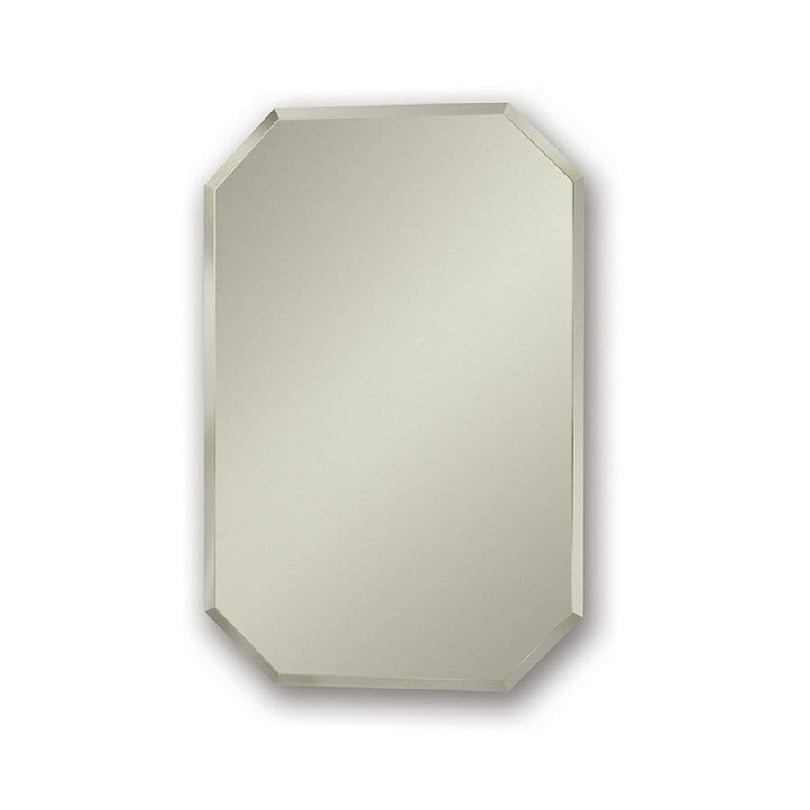 jensen mirage 18in x 27in rectangle recessed mirrored steel medicine cabinet