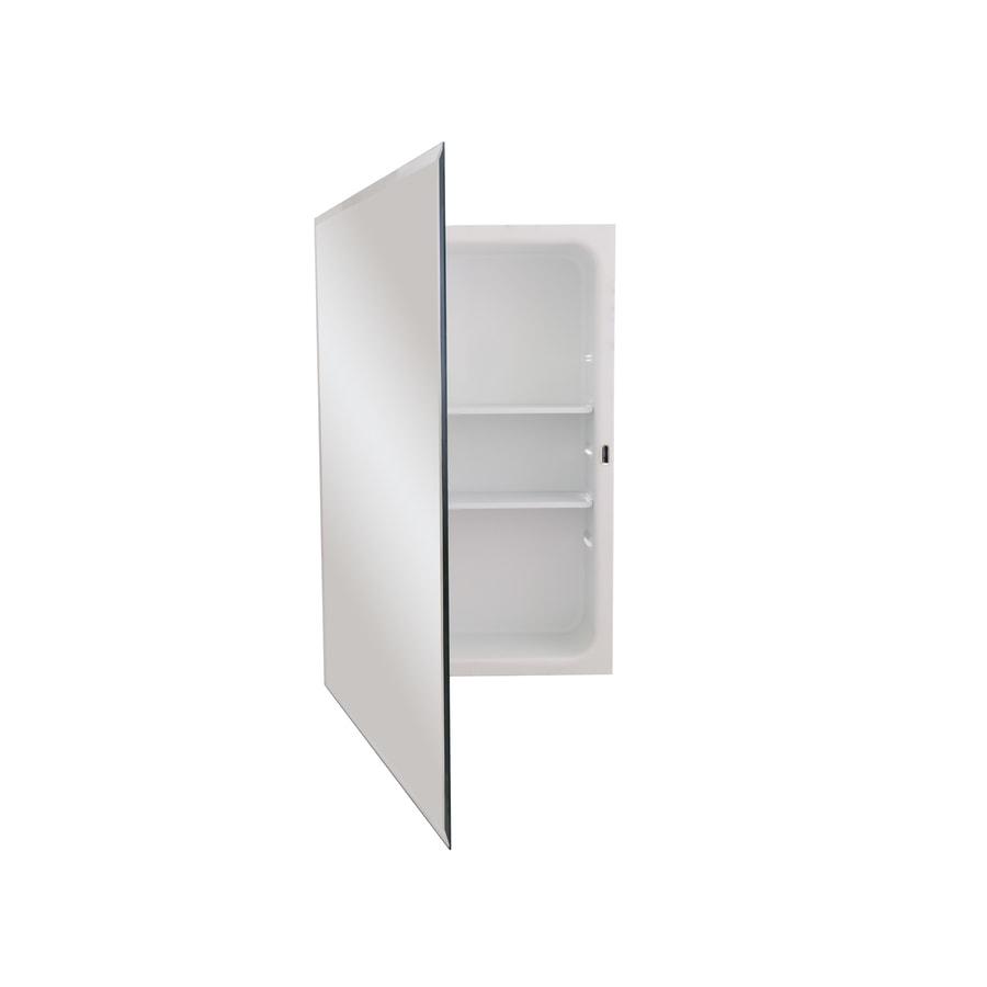 Jensen Horizon 16-in x 26-in Rectangle Recessed Mirrored Steel Medicine Cabinet