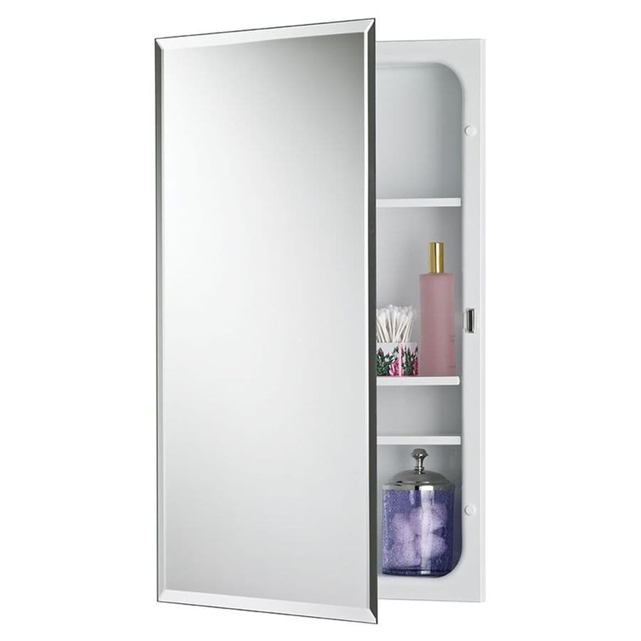 Jensen Horizon 16-in x 26-in Rectangle Recessed Mirrored ...