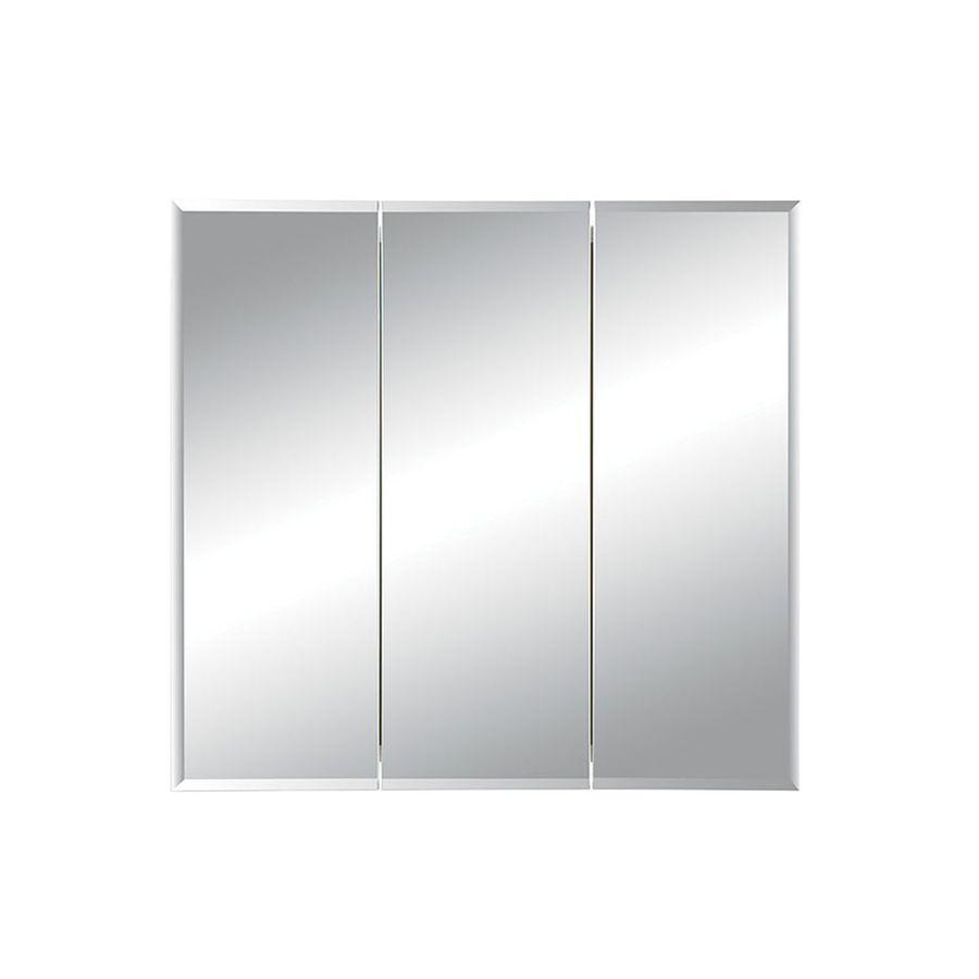 Jensen Horizon 36 In X 28.25 In Rectangle Recessed Mirrored Steel Medicine  Cabinet