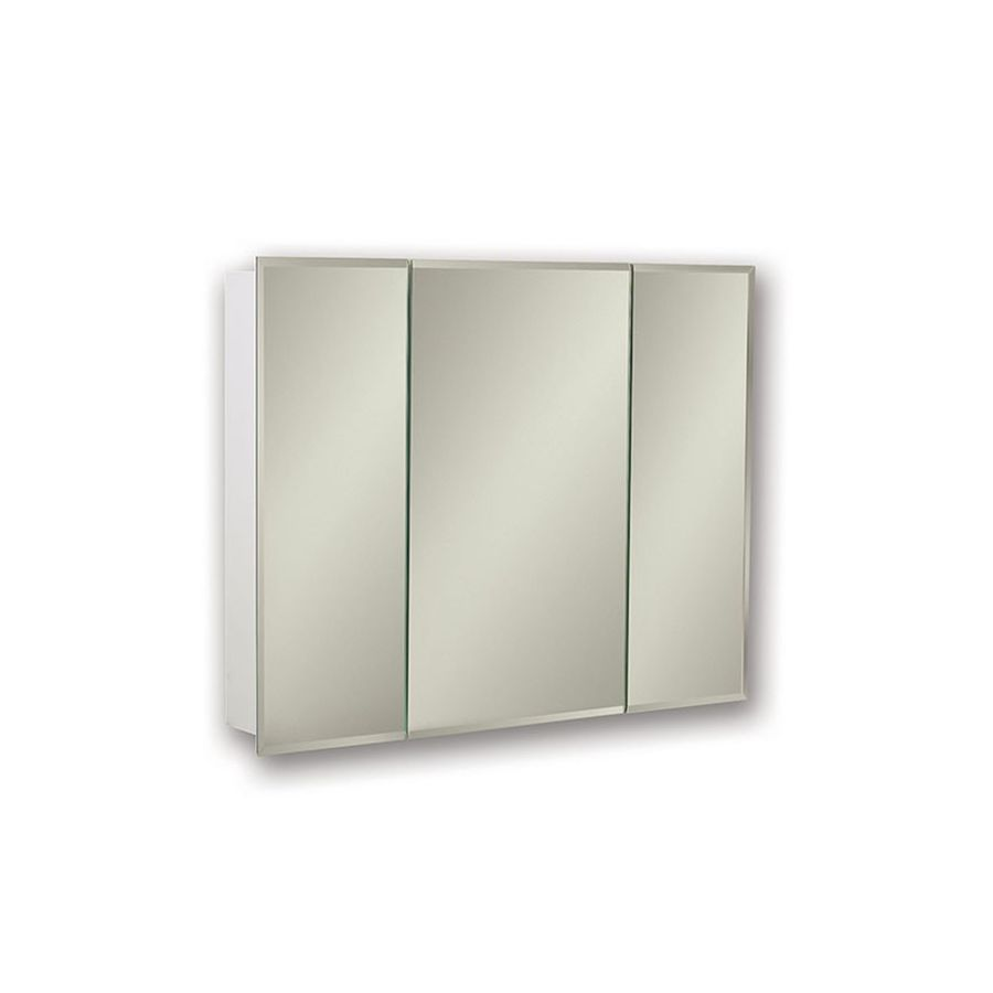 Jensen Horizon 30-in x 28.25-in Rectangle Surface Mirrored Steel Medicine Cabinet