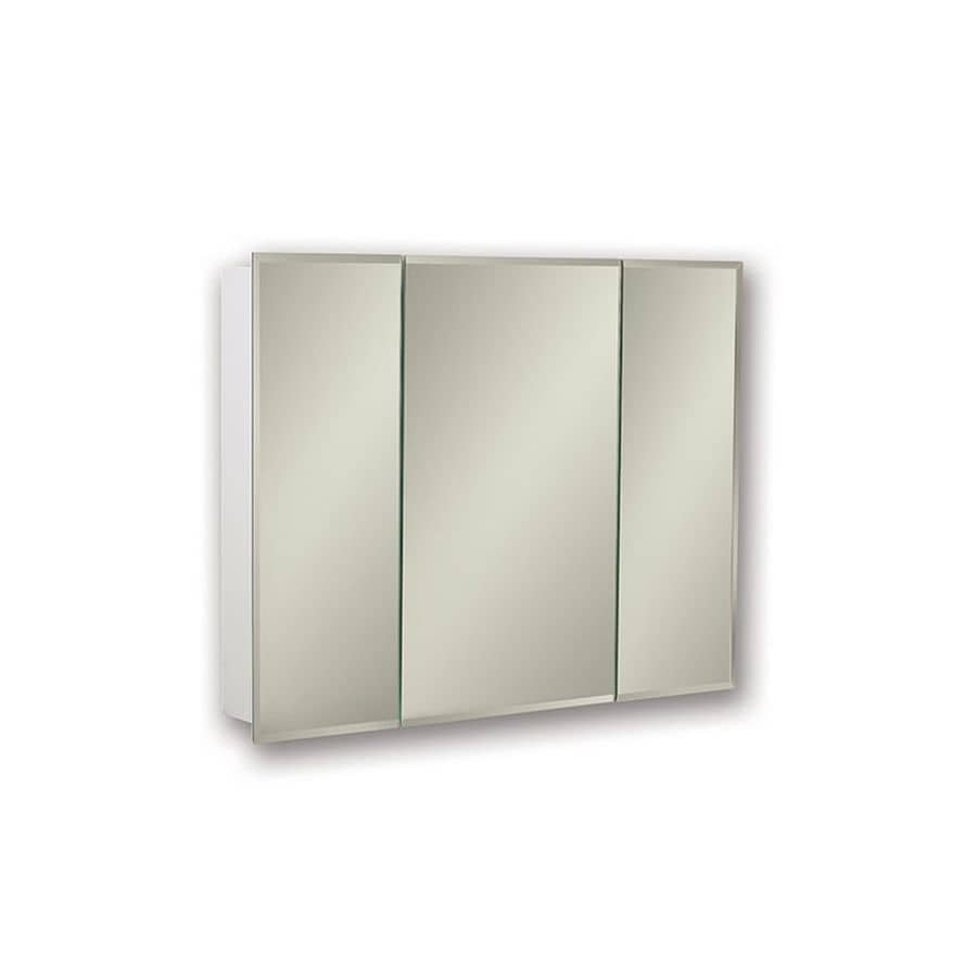 Jensen Horizon 36-in x 28.25-in Rectangle Surface Mirrored Steel Medicine Cabinet