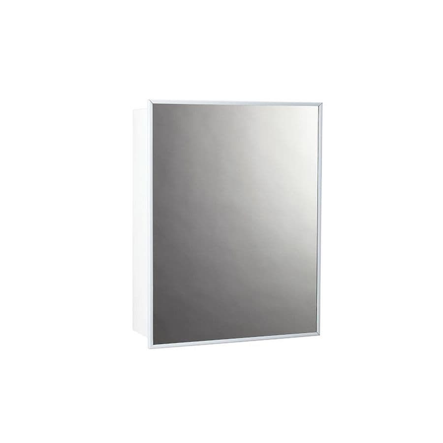 jensen topsider 14in x 18in rectangle surface mirrored steel medicine cabinet