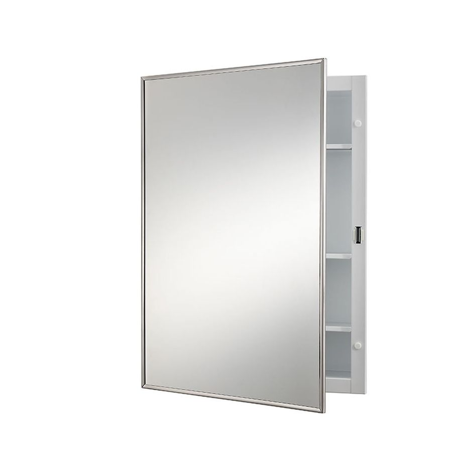 Jensen Styleline 16.125-in x 22.1875-in Rectangle Recessed Mirrored Steel Medicine Cabinet