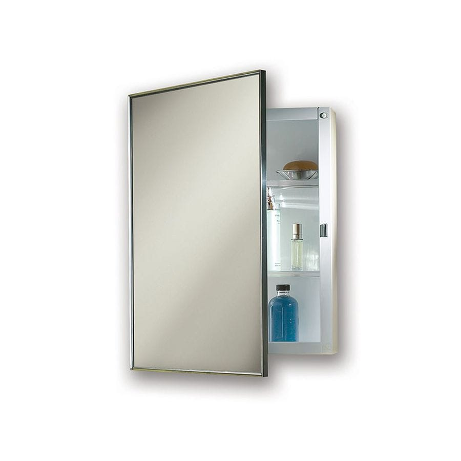 Jensen Styleline 16-in x 22-in Rectangle Surface Mirrored Steel Medicine Cabinet