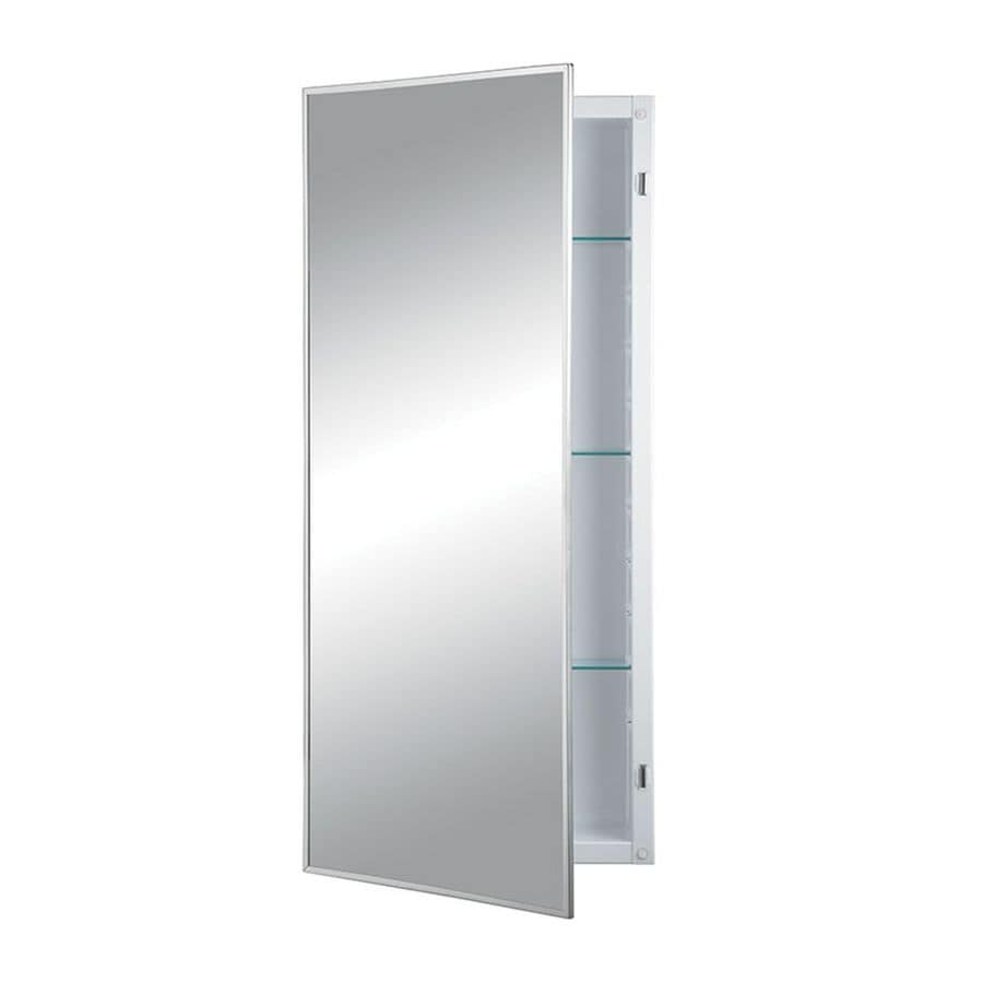 Jensen Federal Specification 16-in x 36-in Rectangle Recessed Mirrored Steel Medicine Cabinet