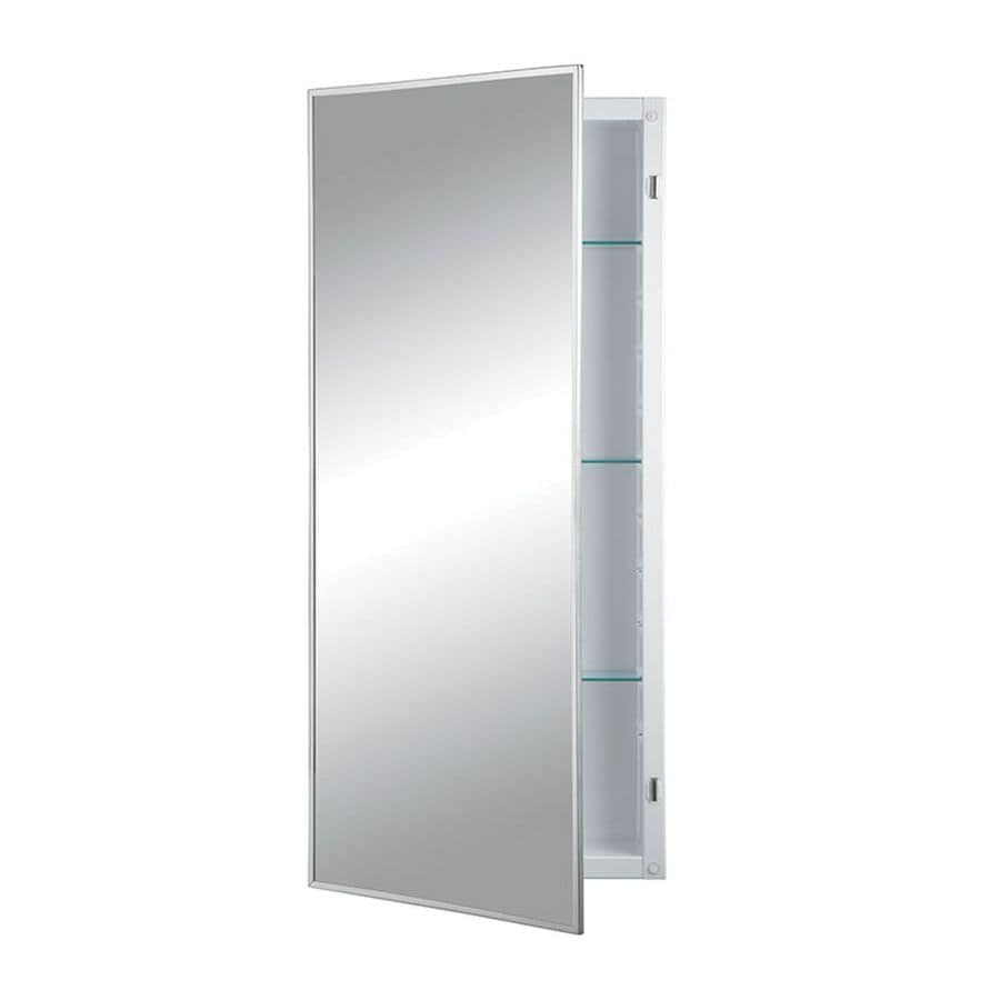 Jensen Federal Specification 18-in x 26-in Rectangle Recessed Mirrored Steel Medicine Cabinet