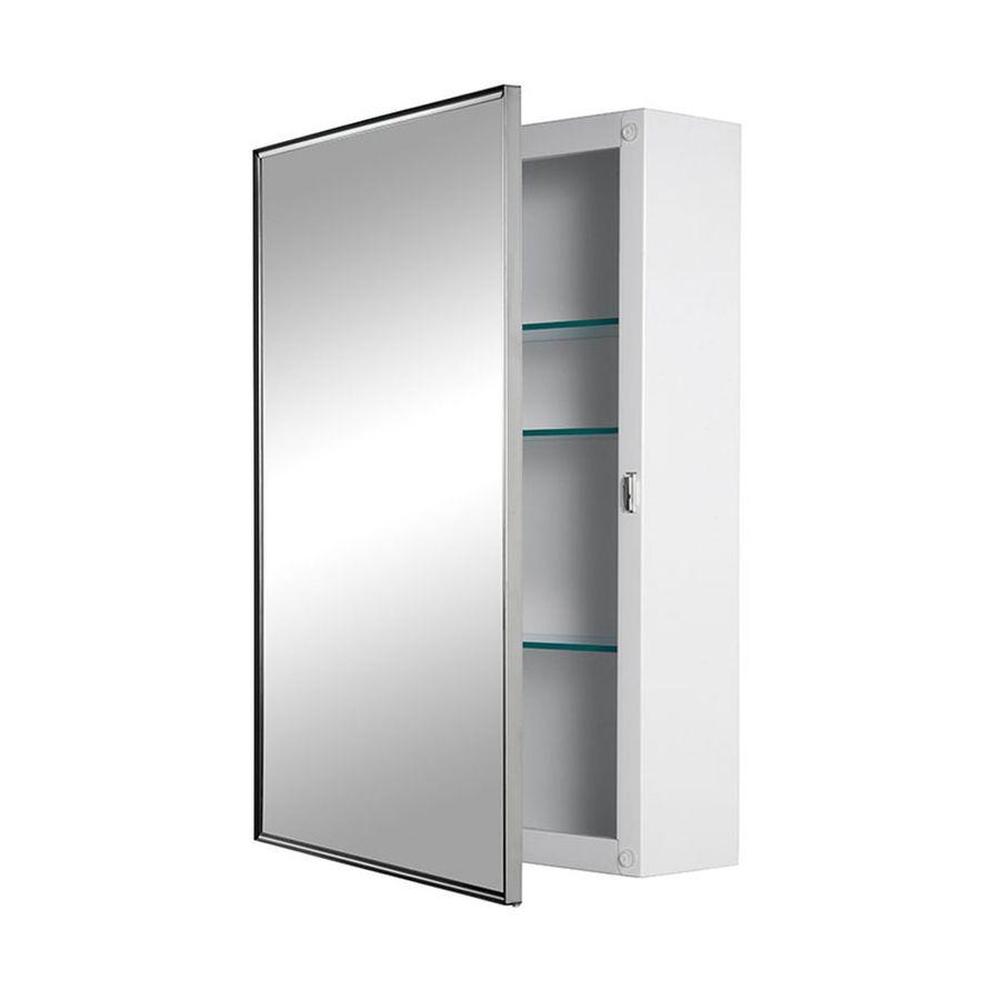 Jensen Styleline 16-in x 22-in Rectangle Surface Mirrored Steel Medicine Cabinet