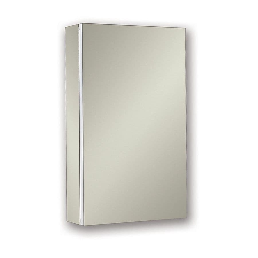 Jensen Metro Deluxe 15-in x 25-in Rectangle Surface/Recessed Mirrored Steel Medicine Cabinet