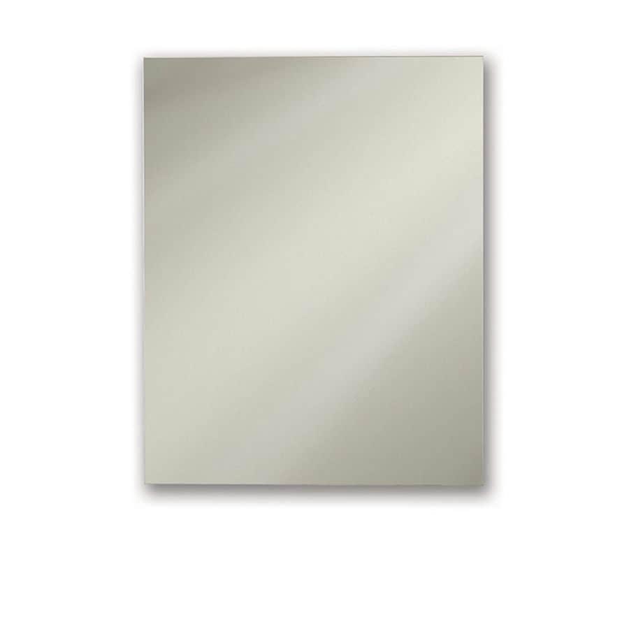 Jensen Metro Deluxe Oversize 20-in x 25-in Rectangle Surface/Recessed Mirrored Steel Medicine Cabinet