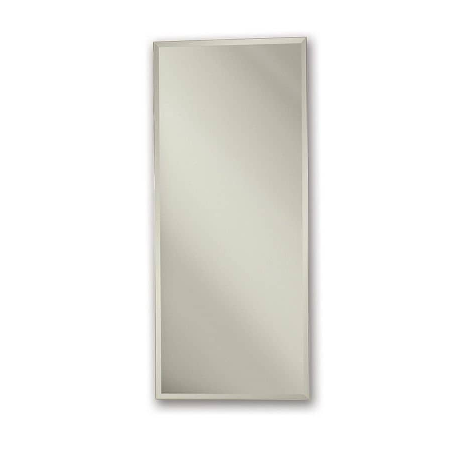 Jensen Metro Classic 15 In X 35 In Rectangle Surface/Recessed Mirrored Steel