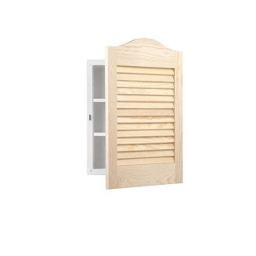 Lowe S Knotty Pine Cabinets: Jensen Louver Doors 16-in X 24-in Rectangle Recessed Pine