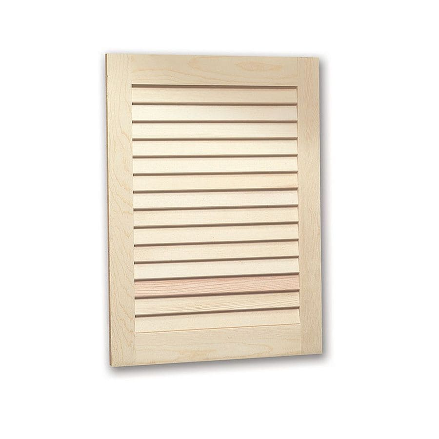 Shop Jensen Louver Doors 16-in x 26-in Rectangle Recessed ...