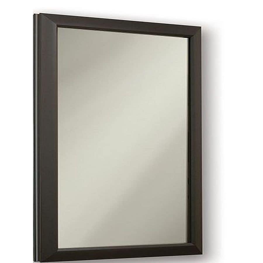 Jensen Hampton Locking 15.75-in x 25.5-in Rectangle Recessed Mirrored Steel Medicine Cabinet