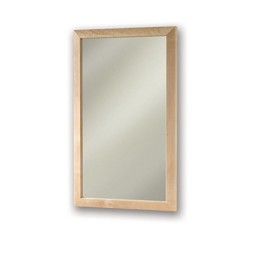 Jensen City 16.5-in x 26.5-in Rectangle Surface/Recessed Maple Mirrored Steel Medicine Cabinet