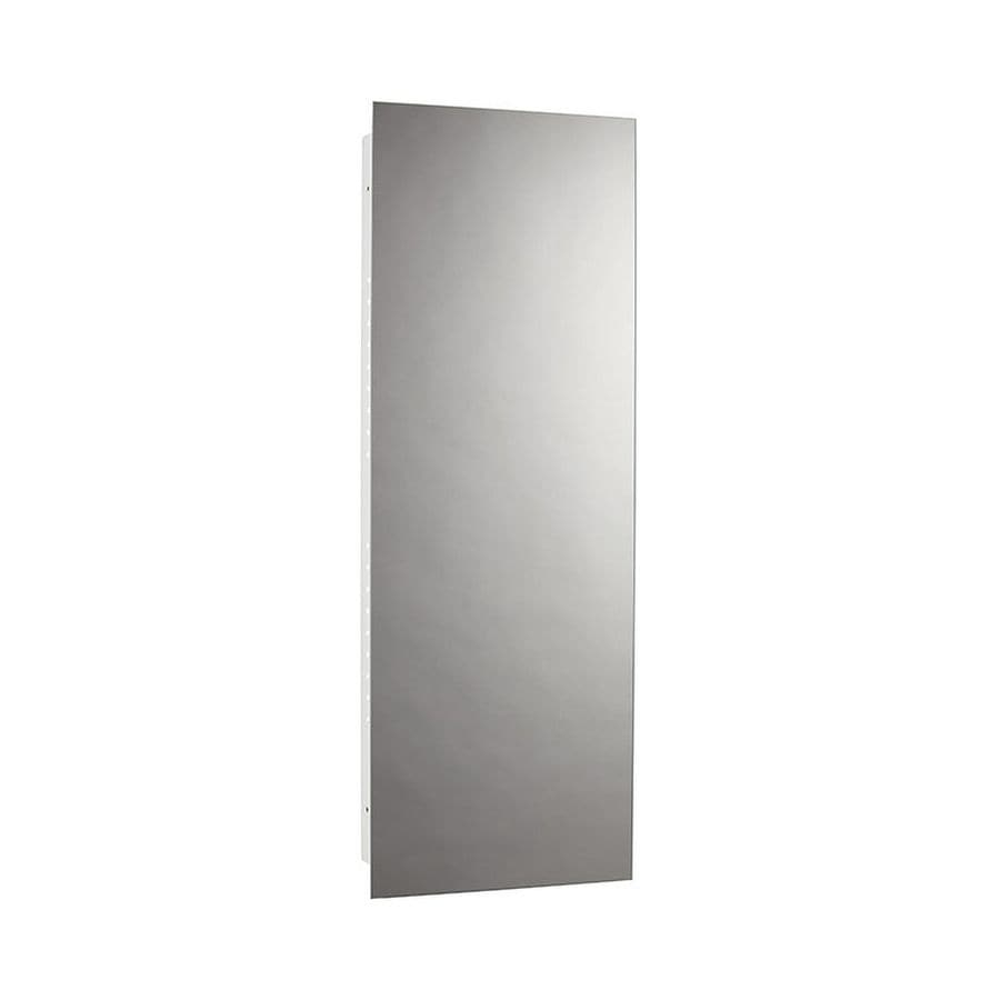 jensen illusion 13in x 36in rectangle recessed mirrored steel medicine cabinet