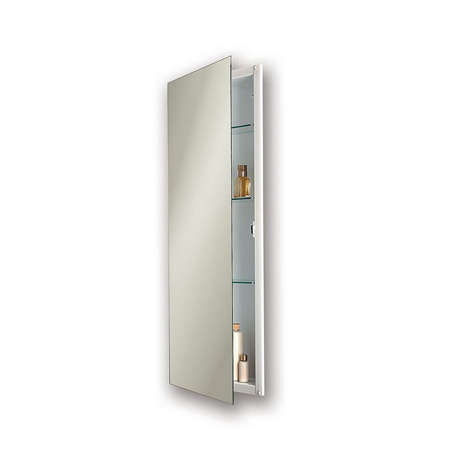 Jensen Low Profile 15-in x 36-in Rectangle Recessed Mirrored Steel Medicine Cabinet