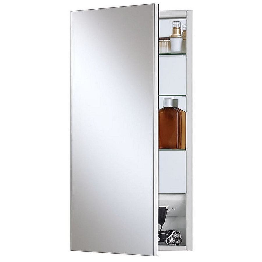 Bathroom Medicine Cabinet With Electrical Outlet: Shop Jensen Meridian 15-in X 35-in Rectangle Surface