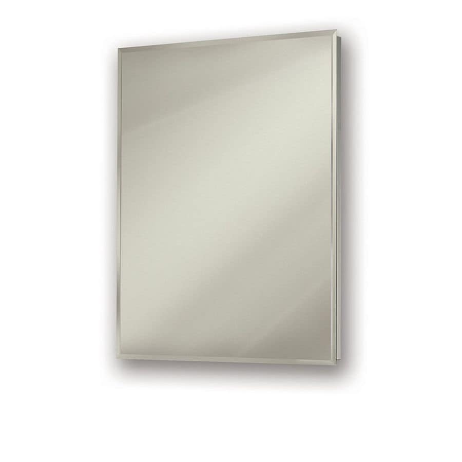 Jensen Gallery Oversize 24 In X 30 Rectangle Surface Recessed Mirrored Stainless Steel Medicine Cabinet