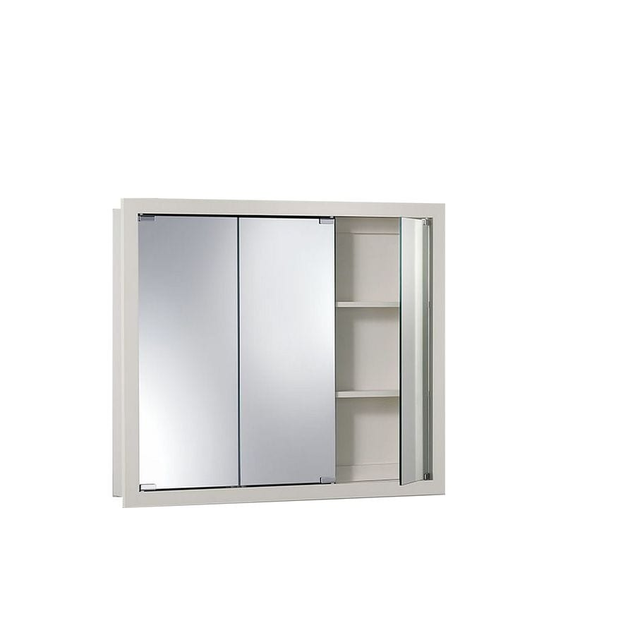 Jensen Granville 36 In X 30 In Rectangle Surface Poplar Mirrored  Particleboard Medicine Cabinet