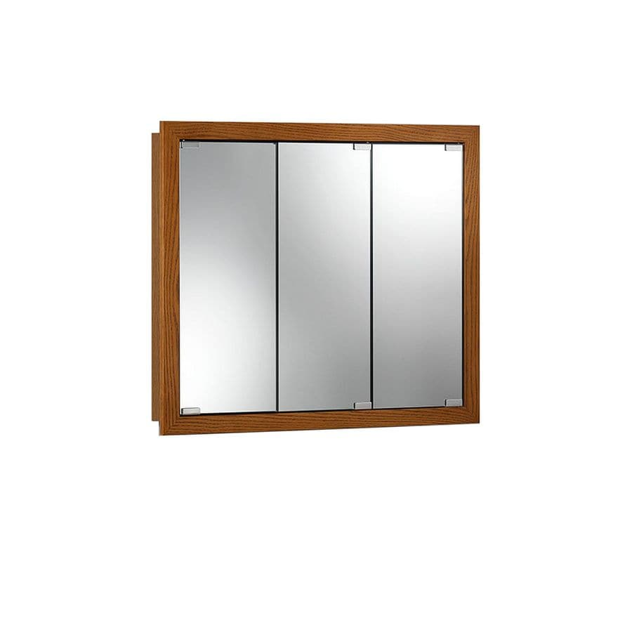 Jensen Granville 36-in x 30-in Rectangle Surface Poplar Mirrored Particleboard Medicine Cabinet