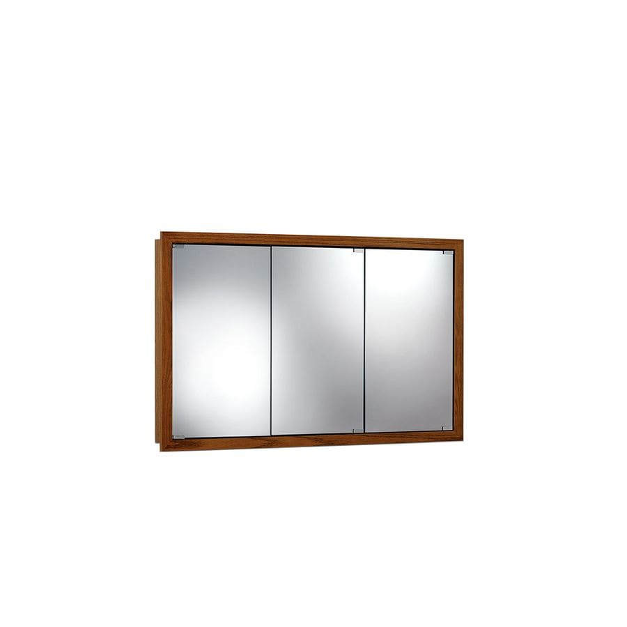 Jensen Granville 48-in x 30-in Rectangle Surface Poplar Mirrored Particleboard Medicine Cabinet