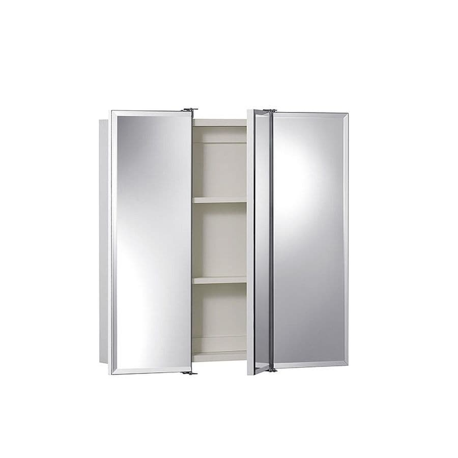 Jensen Ashland 24-in x 24-in Rectangle Surface Mirrored Particleboard Medicine Cabinet