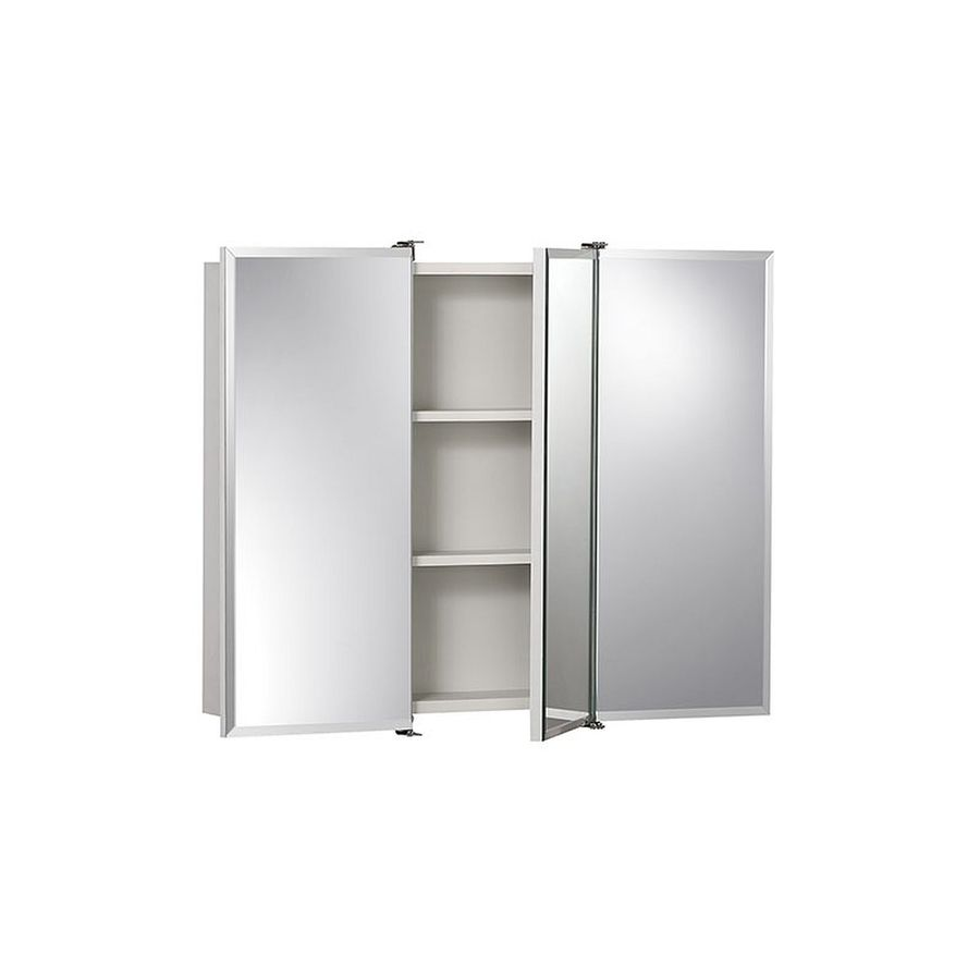 Jensen Ashland 30-in x 24-in Rectangle Surface Mirrored Particleboard Medicine Cabinet