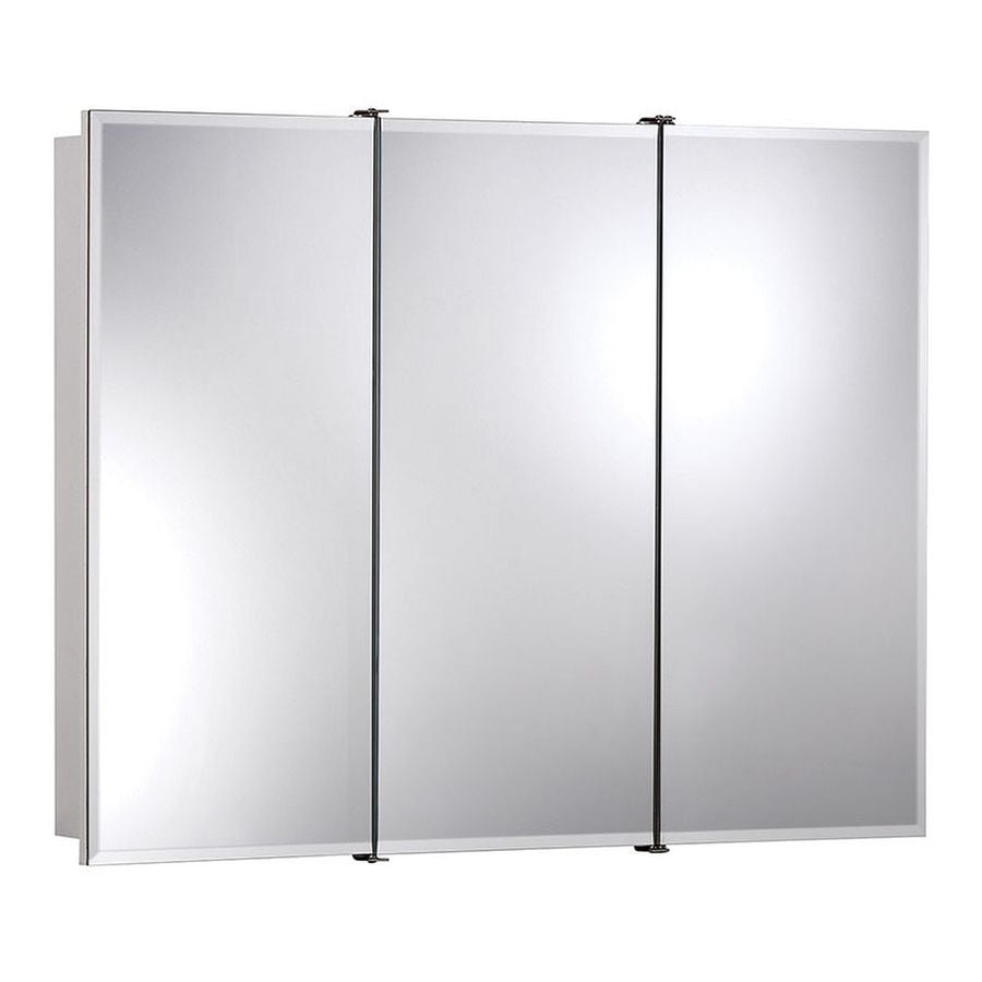 Jensen Ashland 36-in x 28-in Rectangle Surface Mirrored Particleboard Medicine Cabinet