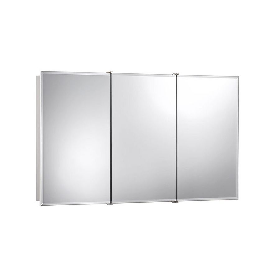 Jensen Ashland 48-in x 28-in Rectangle Surface Mirrored Particleboard Medicine Cabinet