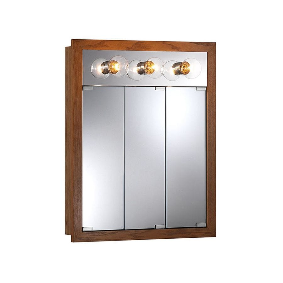 mirrored medicine cabinets shop granville 24 in x 30 in rectangle surface 23412