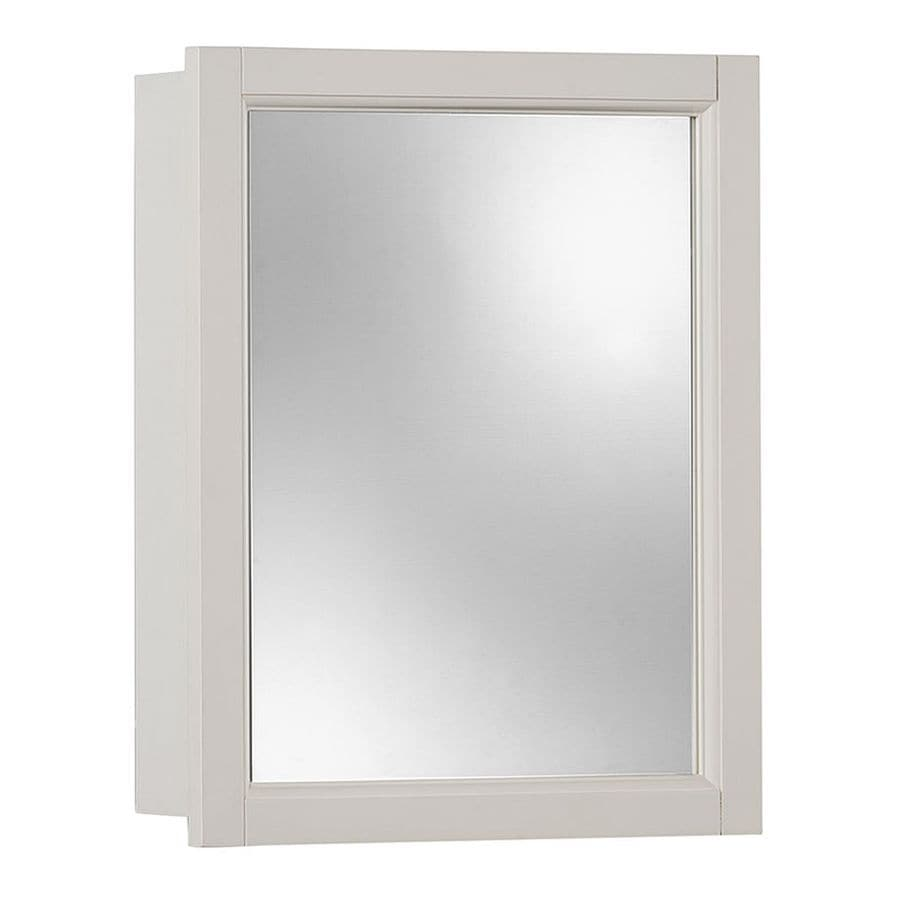 Jensen Sheridan 15-in x 19-in Rectangle Surface Poplar Mirrored Particleboard Medicine Cabinet