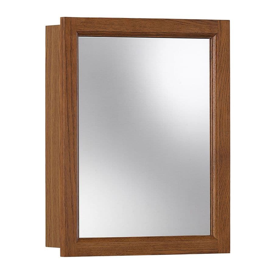 Jensen Sheridan 15-in x 19-in Rectangle Surface Poplar Mirrored Particleboard Medicine Cabinet