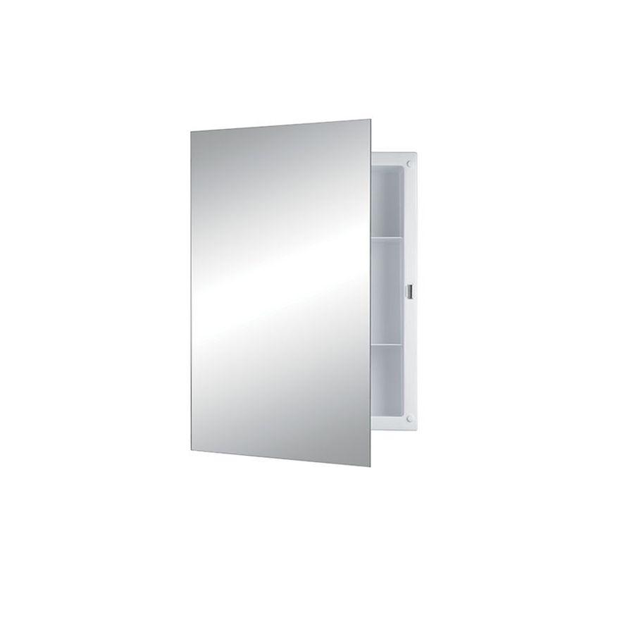 Jensen Builder 16-in x 22-in Rectangle Recessed Mirrored Plastic Medicine Cabinet