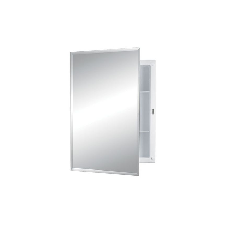 Shop Jensen Builder 16-in x 22-in Rectangle Recessed Mirrored ...