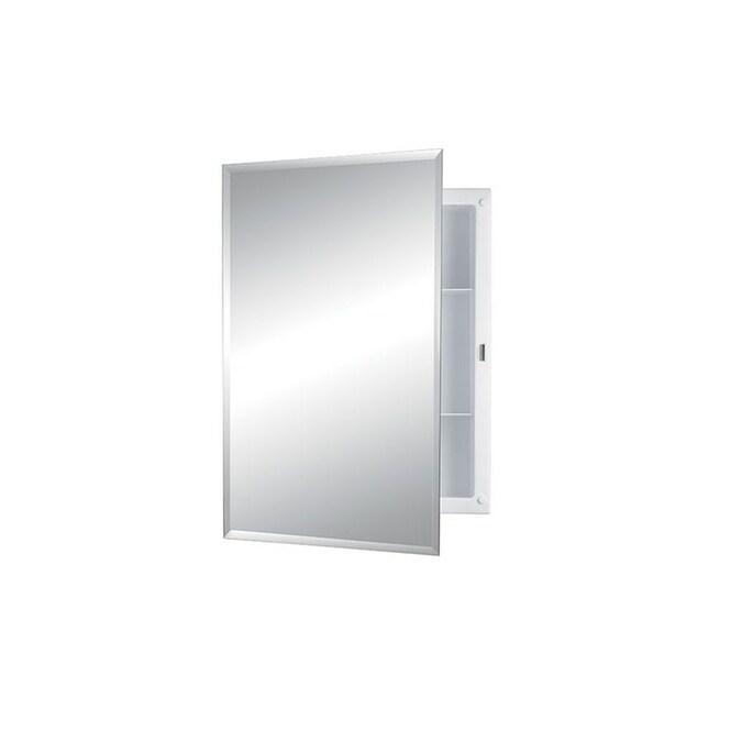 Jensen Builder 16-in x 22-in Rectangle Recessed Mirrored ...