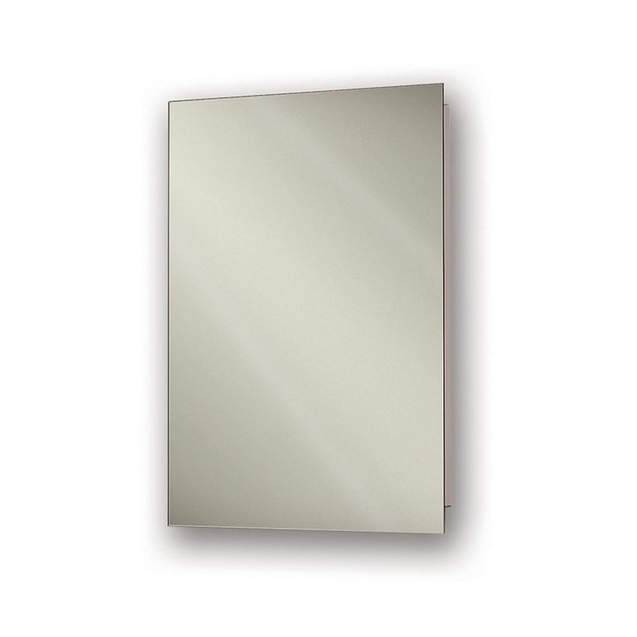 Jensen Perfect Square 16-in x 26-in Rectangle Recessed Mirrored Steel Medicine Cabinet