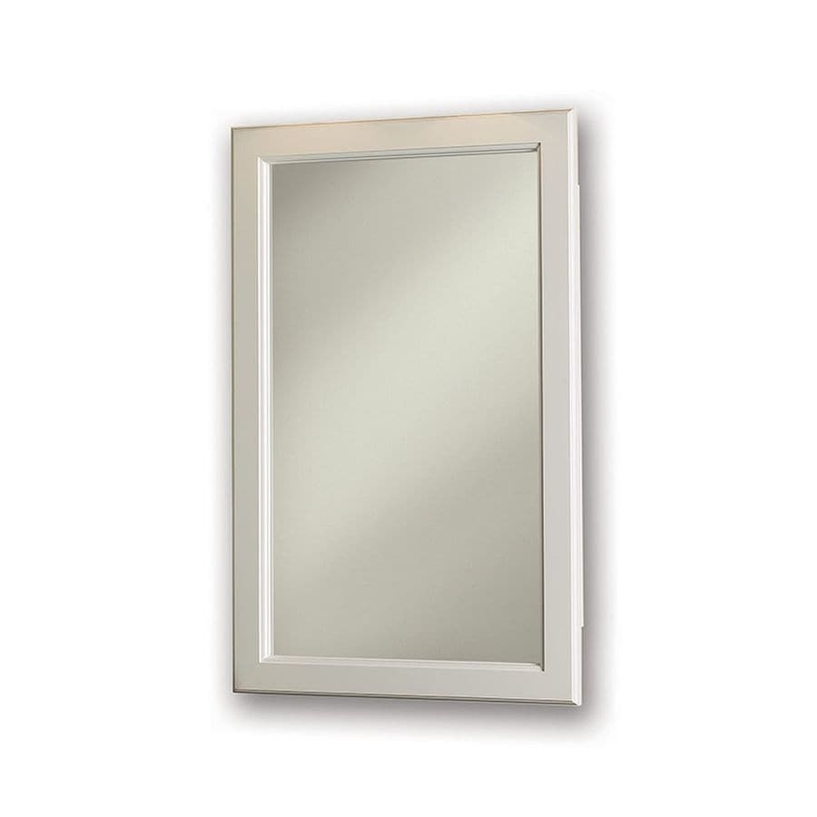 Jensen Prairie 17.375-in x 27.375-in Rectangle Recessed Mirrored Steel Medicine Cabinet