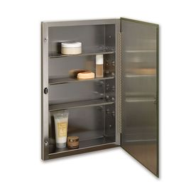 Jensen Styleline 16 In X 26 In Rectangle Recessed Mirrored Stainless Steel  Medicine Cabinet
