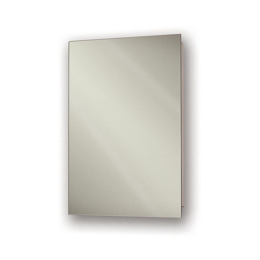 Jensen Ultra 15-in x 26-in Rectangle Recessed Mirrored Steel Medicine Cabinet