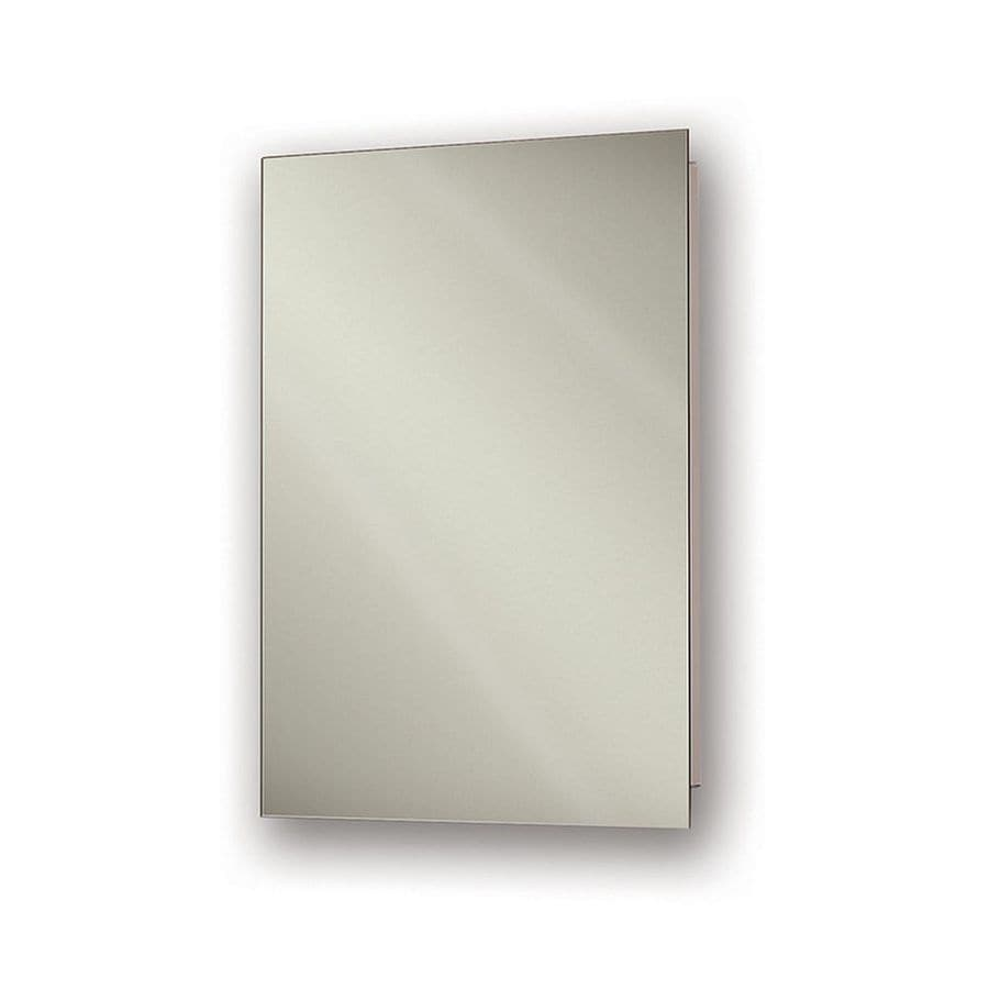 Jensen Ultra 15-in x 36-in Rectangle Recessed Mirrored Steel Medicine Cabinet