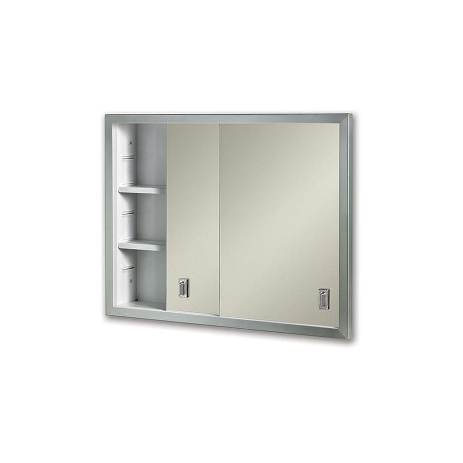 Jensen Contempora 24-in x 19.25-in Rectangle Surface Mirrored Steel Medicine Cabinet