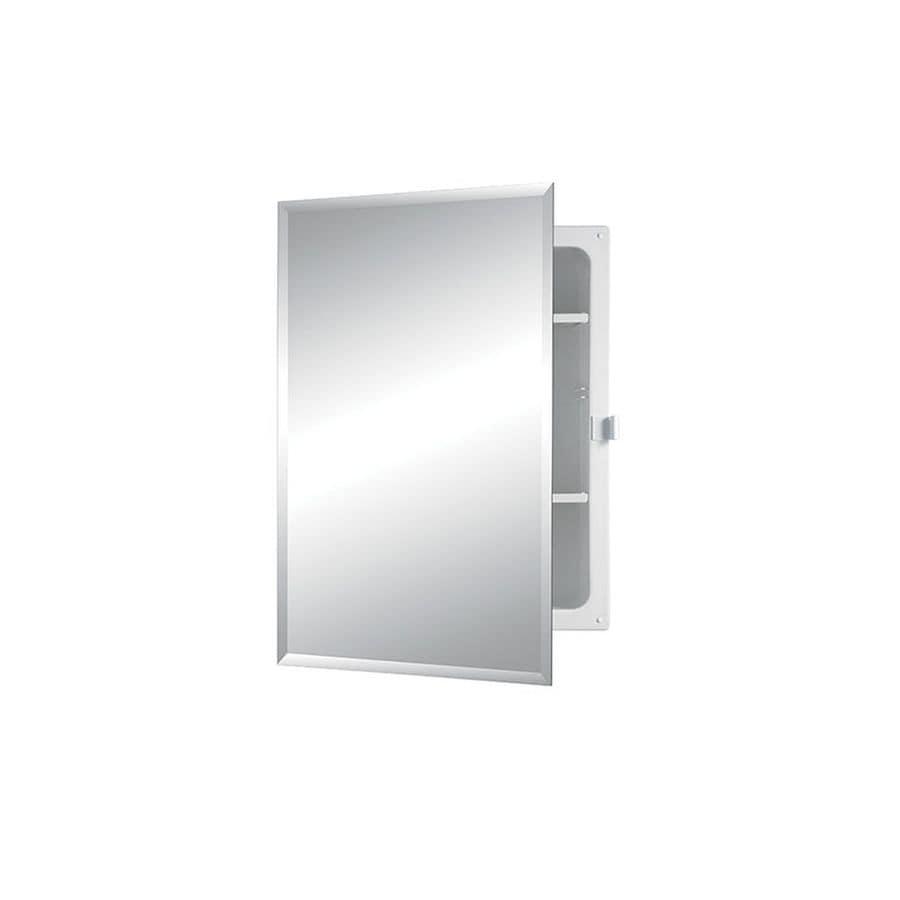 Jensen Horizon 16-in x 22-in Rectangle Recessed Mirrored Plastic Medicine Cabinet