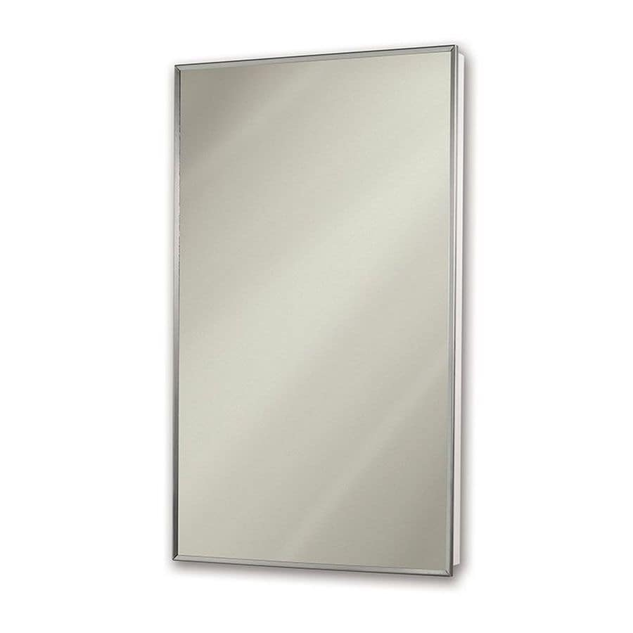 Jensen Styleline 16-in x 26-in Rectangle Recessed Mirrored Plastic Medicine Cabinet