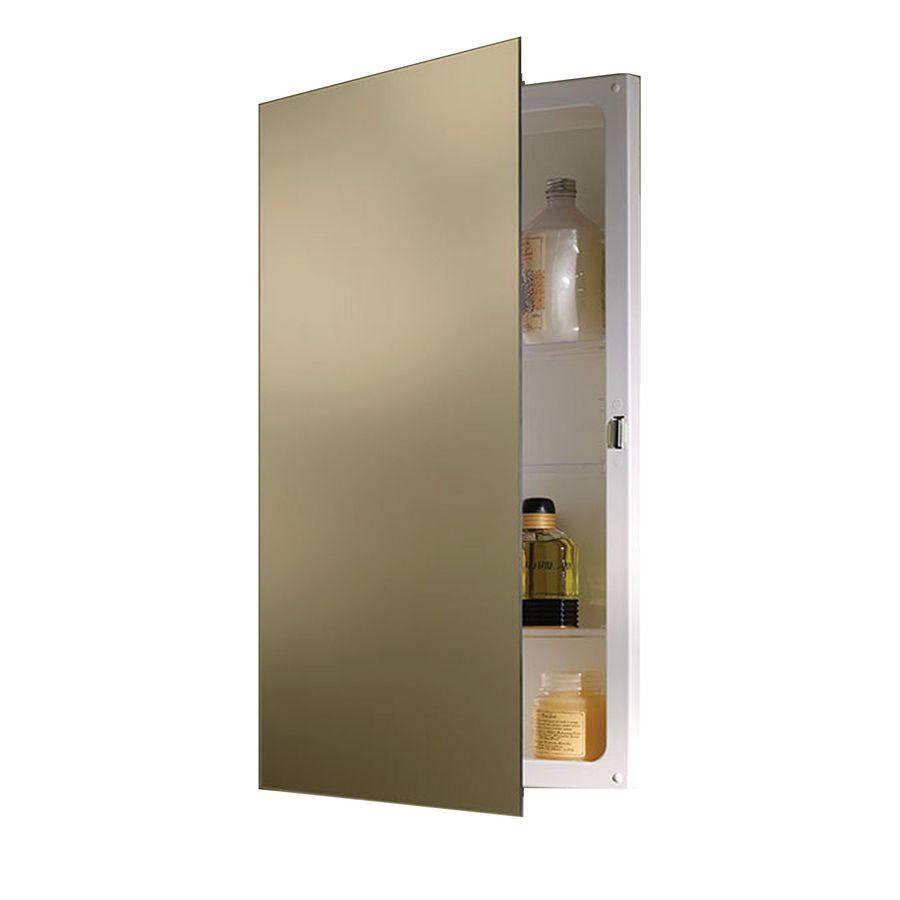 Jensen Focus 16-in x 26-in Rectangle Recessed Mirrored Plastic Medicine Cabinet
