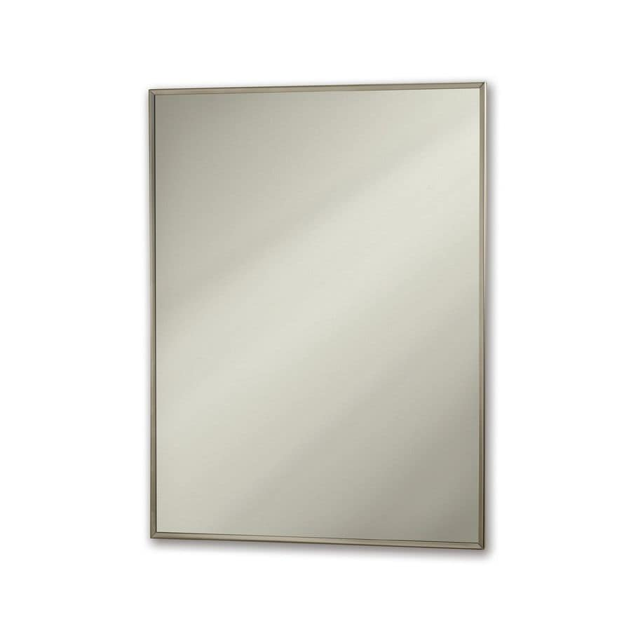 Jensen Styleline 18-in x 24-in Rectangle Surface Mirrored Steel Medicine Cabinet